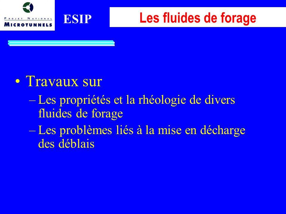 Travaux sur Les fluides de forage ESIP