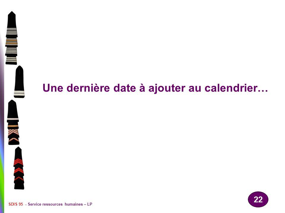 Une dernière date à ajouter au calendrier…