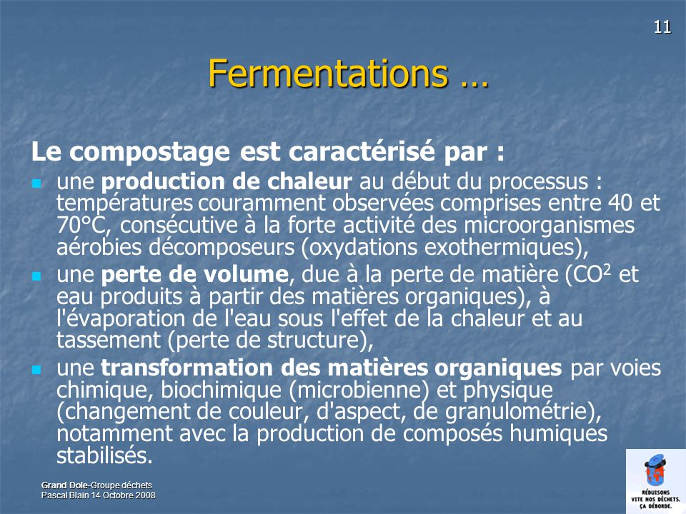 Grand Dole-Commission Environnement, groupe déchets.