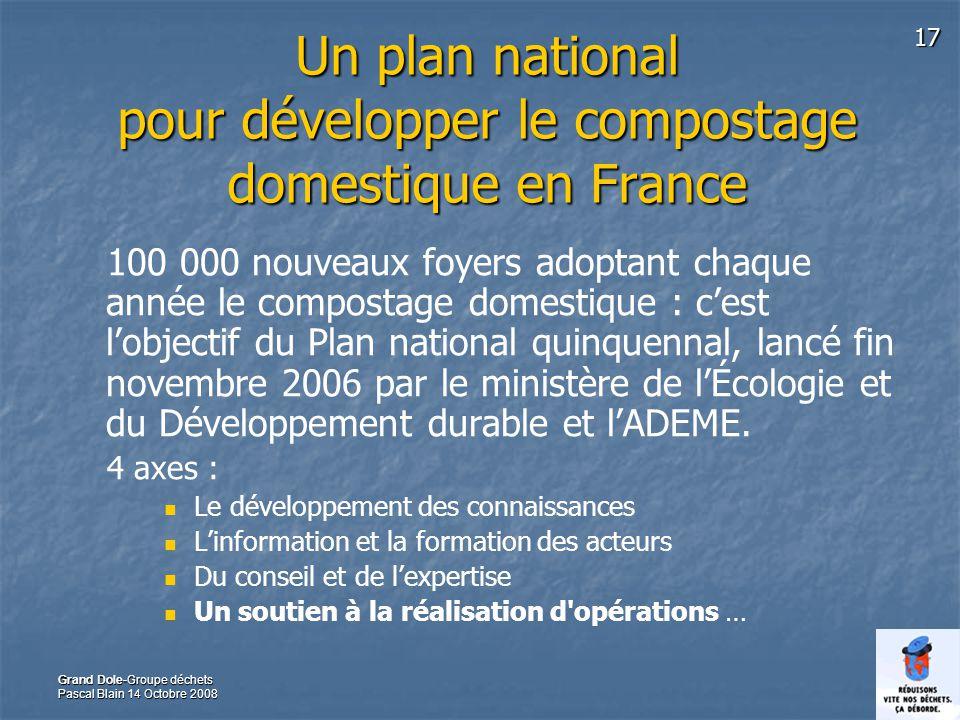 Un plan national pour développer le compostage domestique en France
