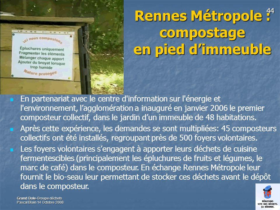 Rennes Métropole : compostage en pied d'immeuble