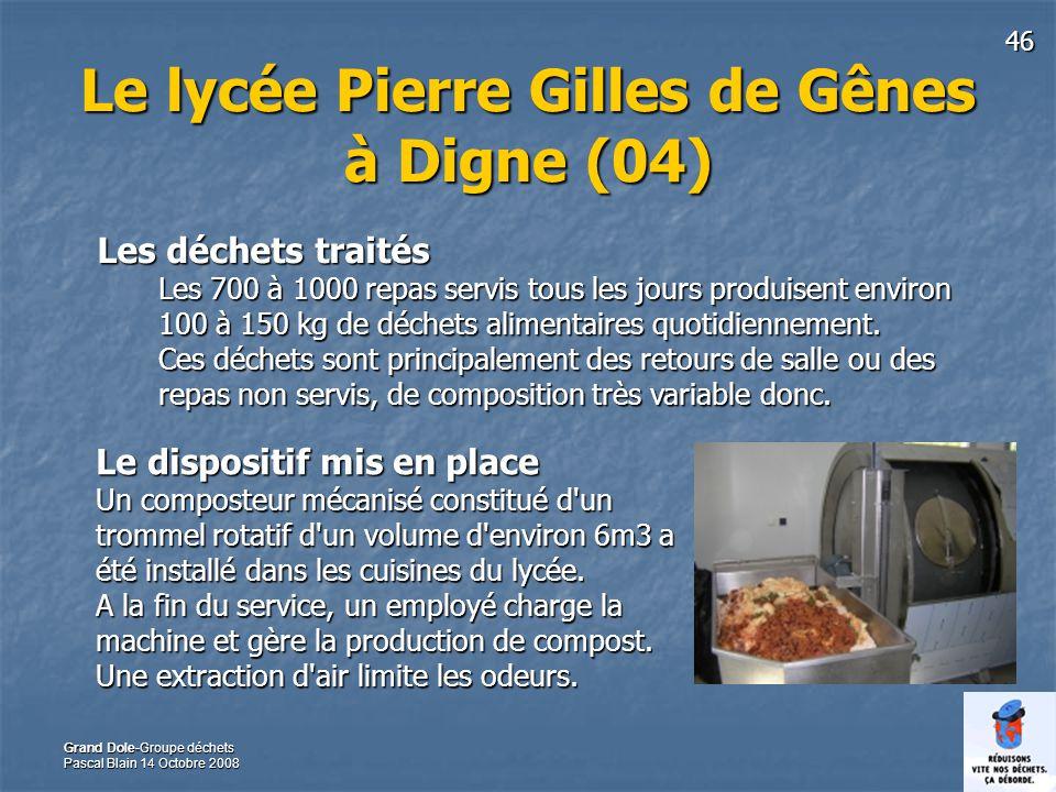 Le lycée Pierre Gilles de Gênes à Digne (04)