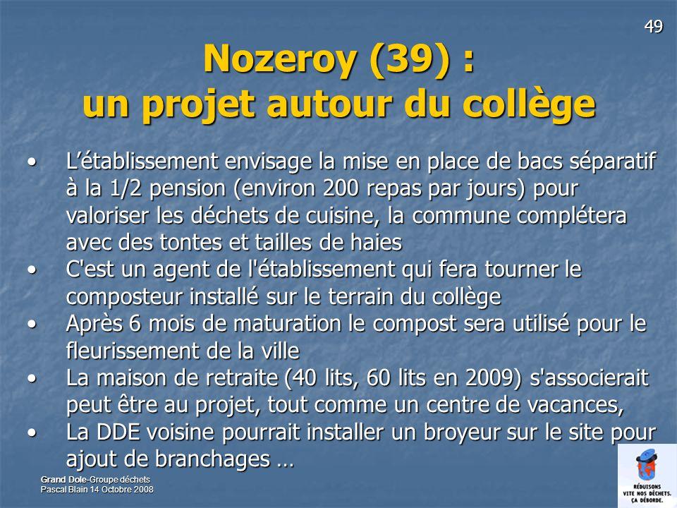 Nozeroy (39) : un projet autour du collège