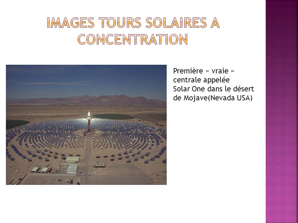 Images tours solaires a concentration