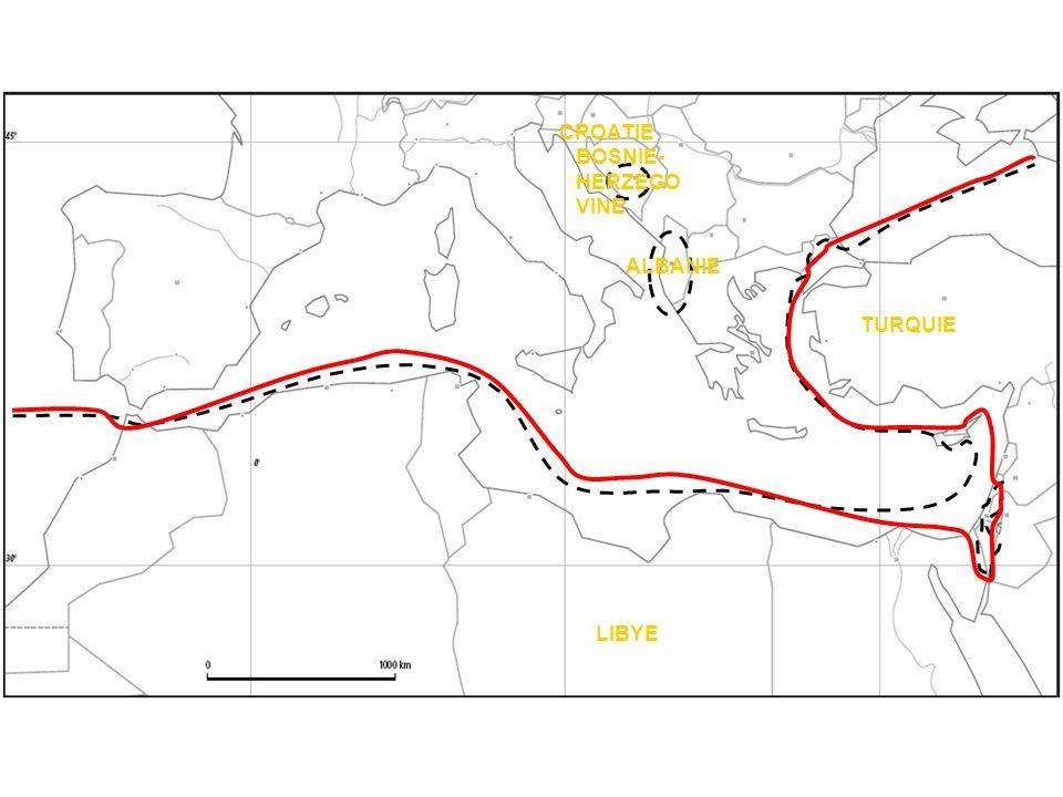 CROATIE BOSNIE-HERZEGOVINE ALBANIE TURQUIE LIBYE