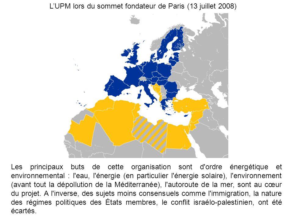 L'UPM lors du sommet fondateur de Paris (13 juillet 2008)