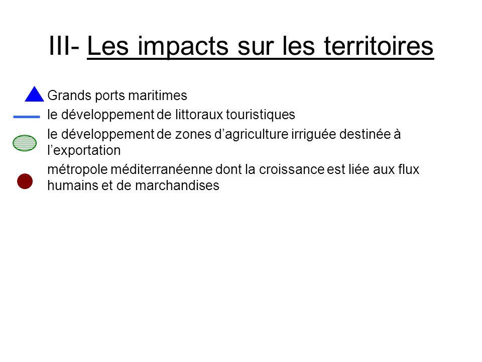 III- Les impacts sur les territoires