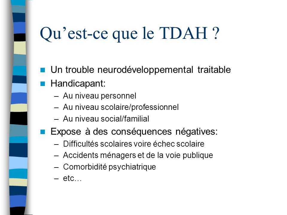 Qu'est-ce que le TDAH Un trouble neurodéveloppemental traitable