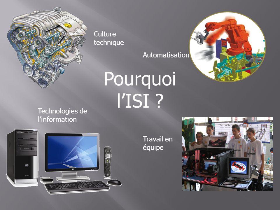 Pourquoi l'ISI Culture technique Automatisation