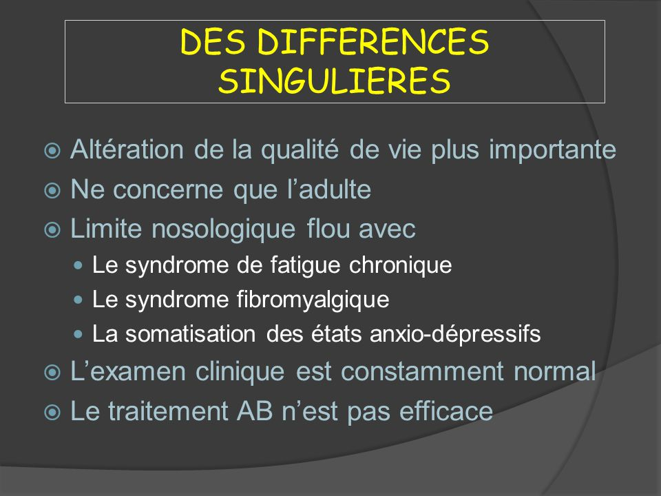 DES DIFFERENCES SINGULIERES