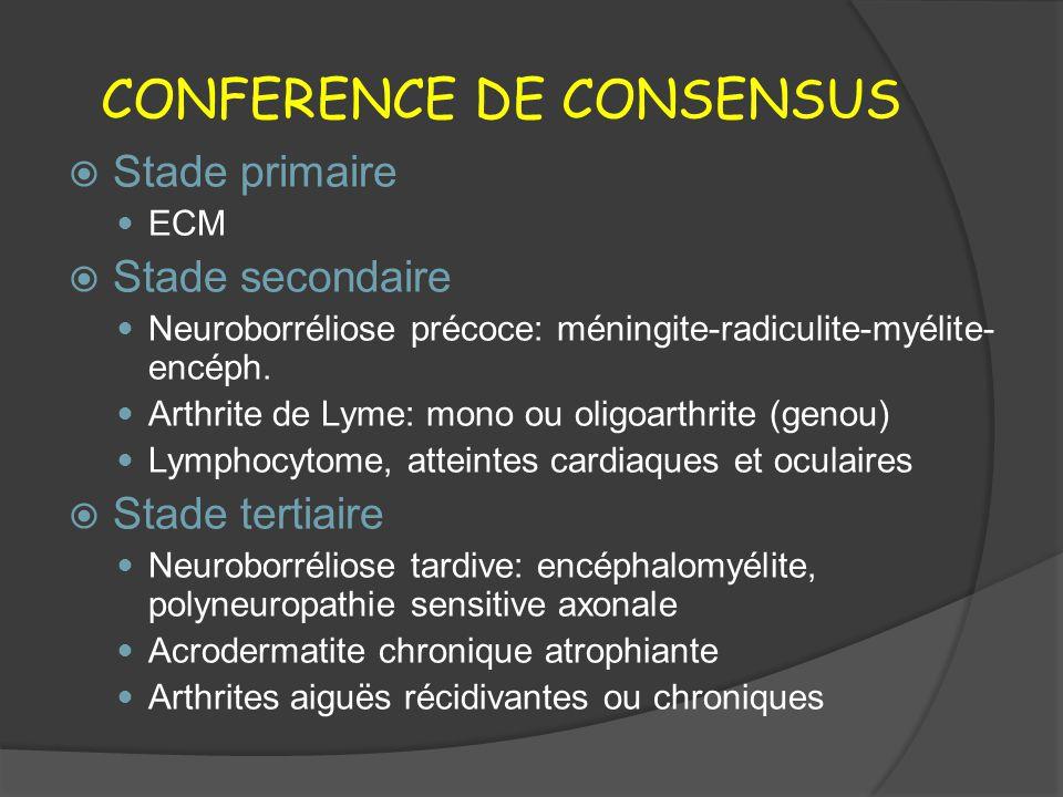 CONFERENCE DE CONSENSUS