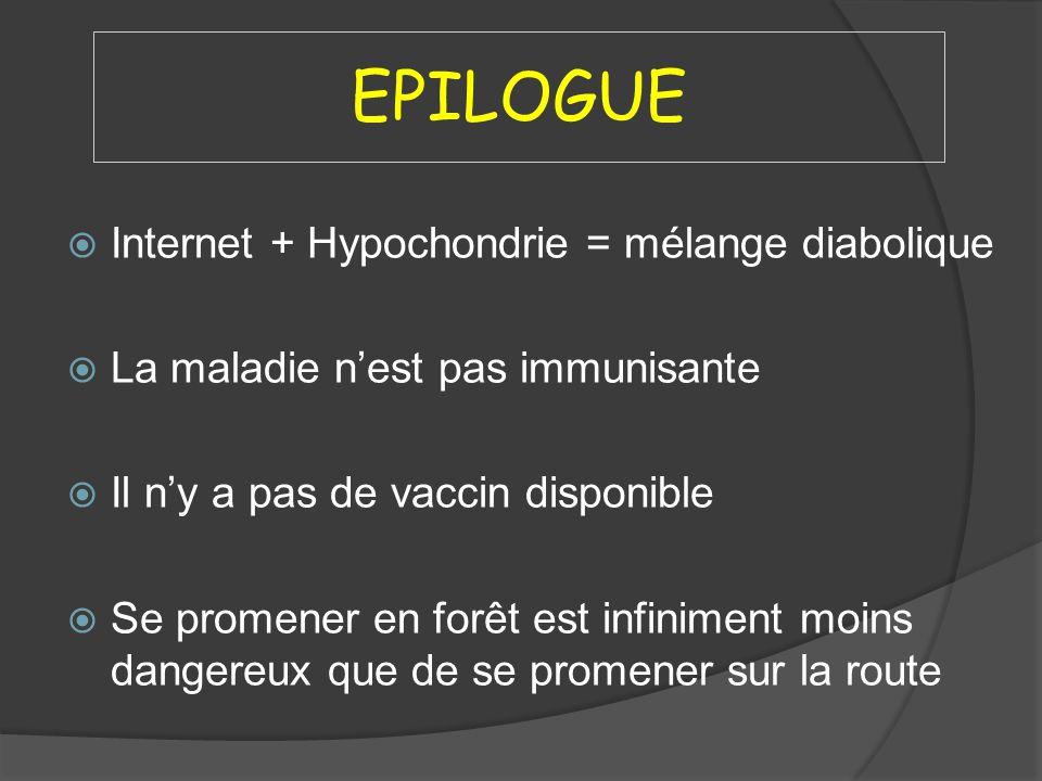 EPILOGUE Internet + Hypochondrie = mélange diabolique