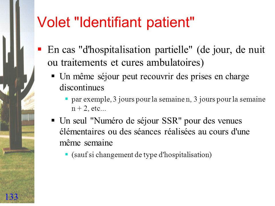Volet Identifiant patient