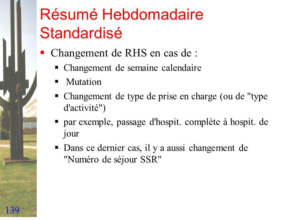 Résumé Hebdomadaire Standardisé