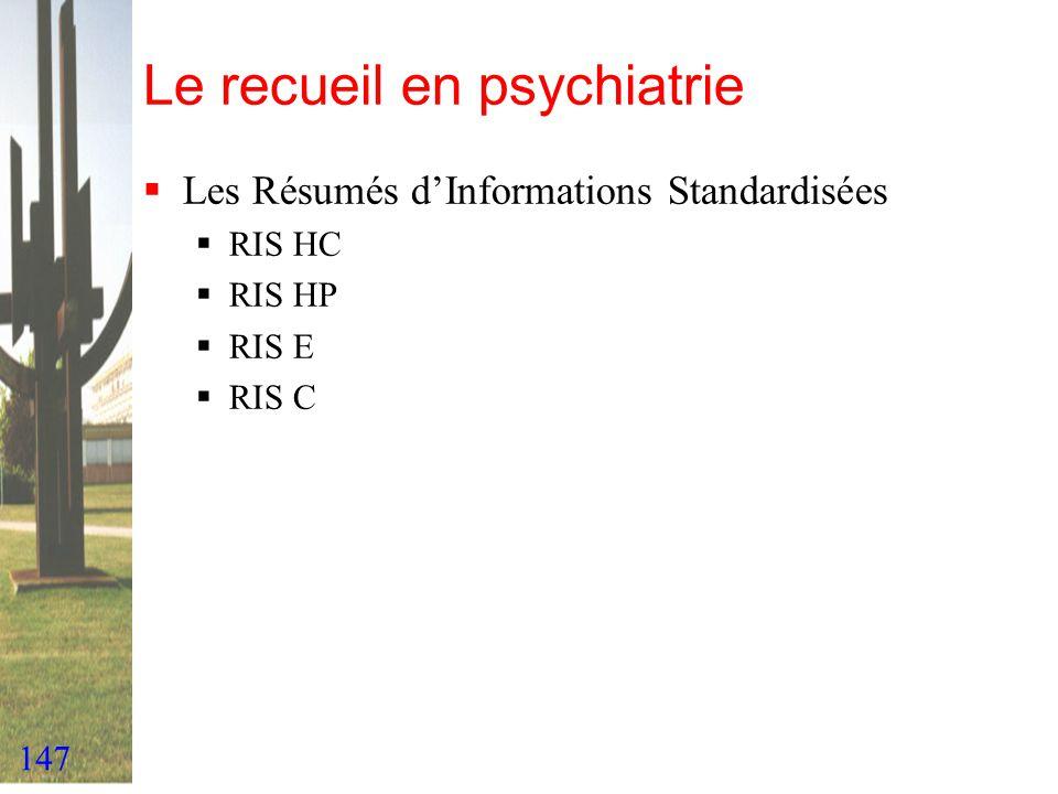 Le recueil en psychiatrie