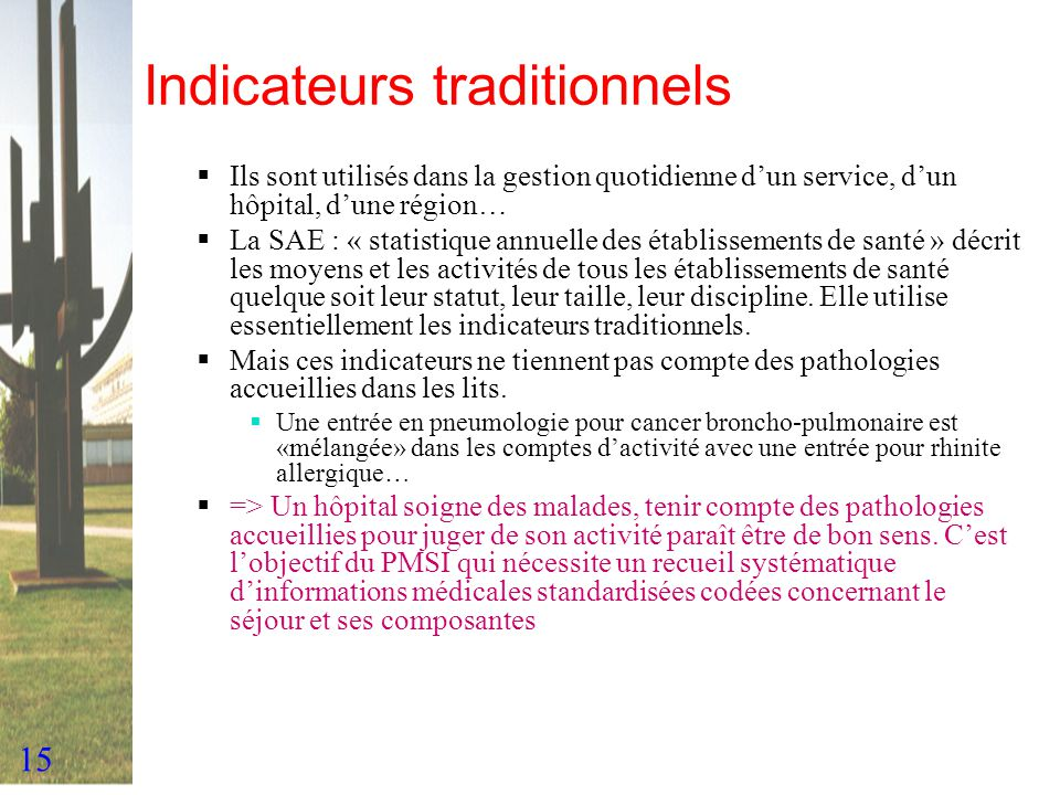 Indicateurs traditionnels