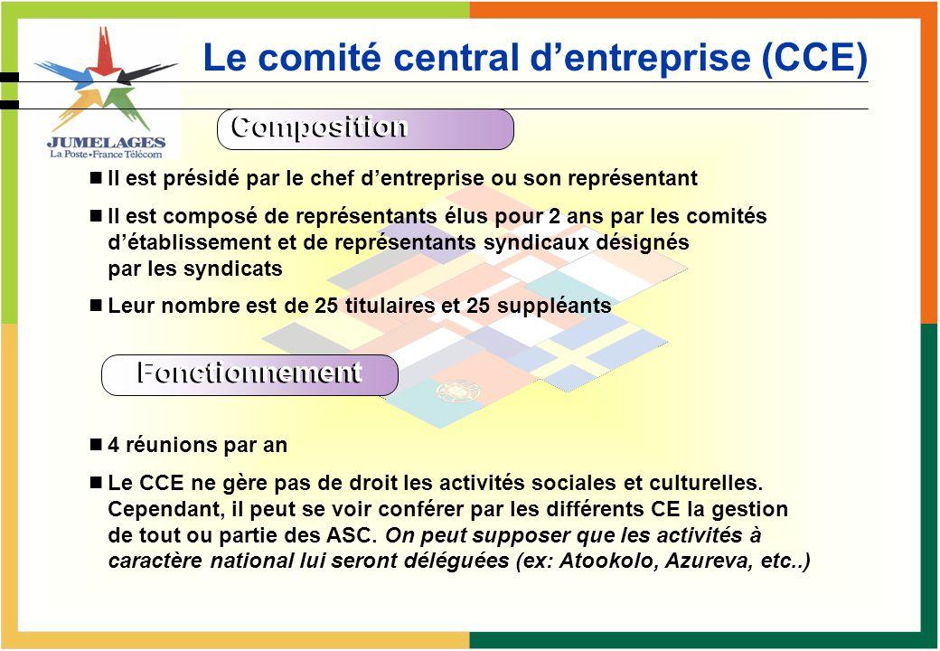 Le comité d'établissement (CE)