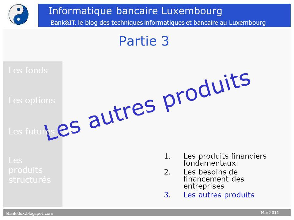 Les autres produits Partie 3 Les fonds Les options Les futures
