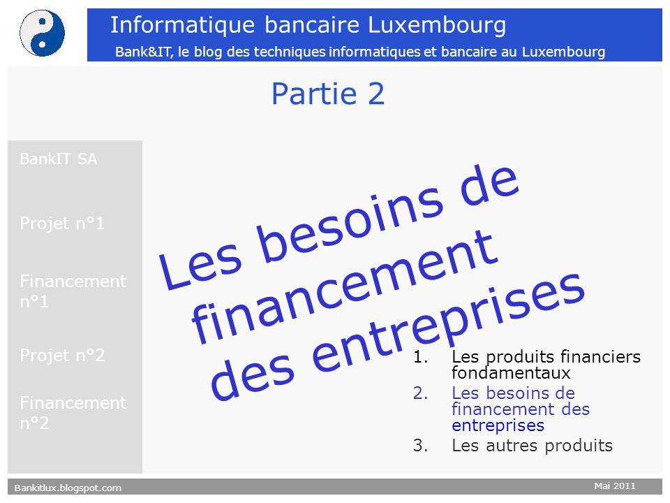 Les besoins de financement des entreprises Partie 2 Projet n°1