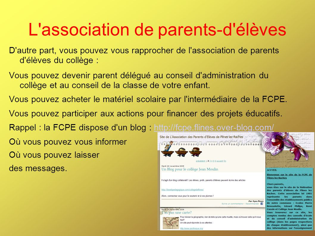 L association de parents-d élèves