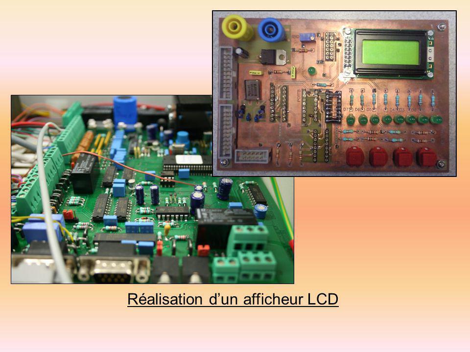 Réalisation d'un afficheur LCD