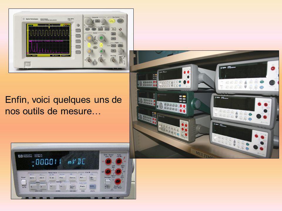 Enfin, voici quelques uns de nos outils de mesure…