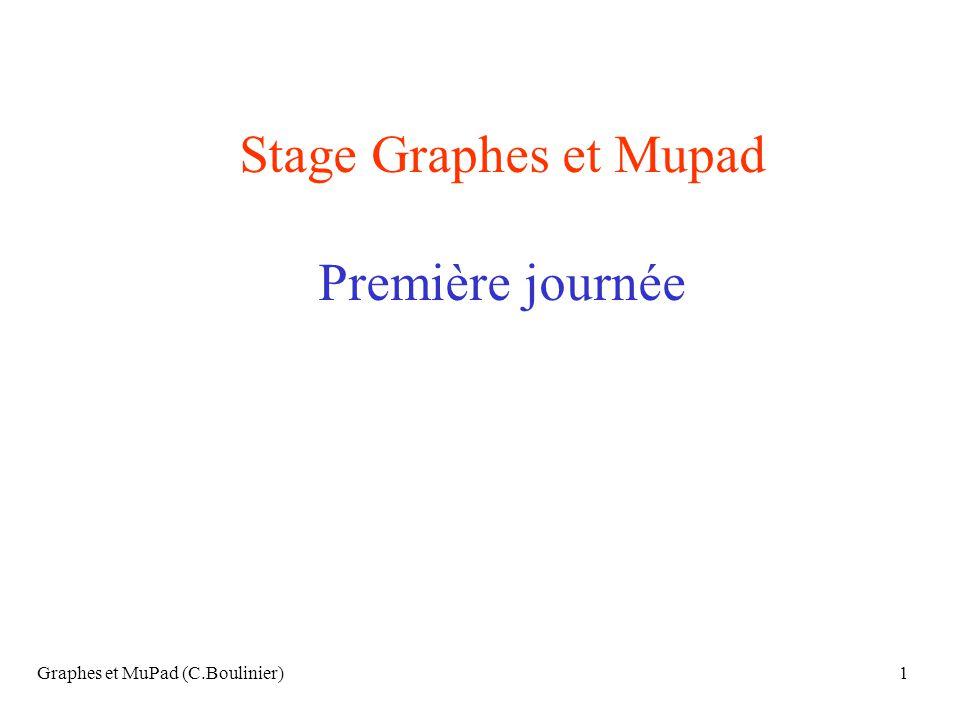 Stage Graphes et Mupad Première journée