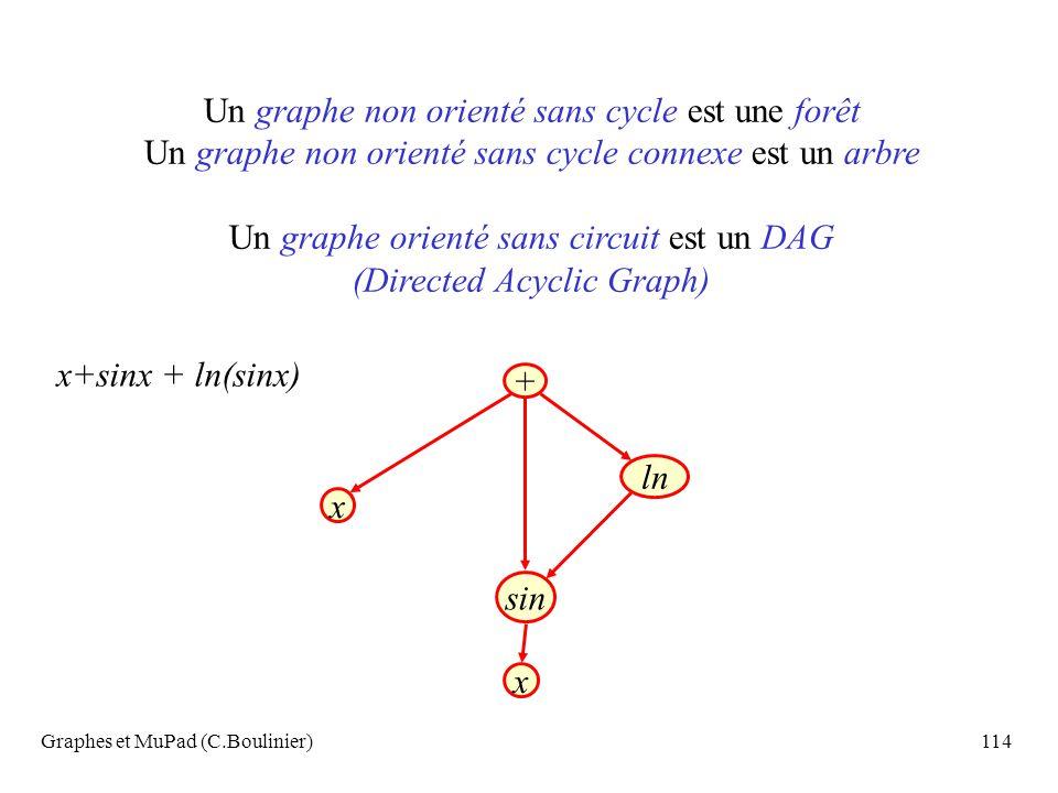 Un graphe non orienté sans cycle est une forêt