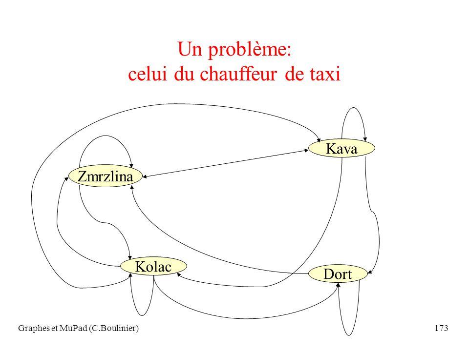 Un problème: celui du chauffeur de taxi