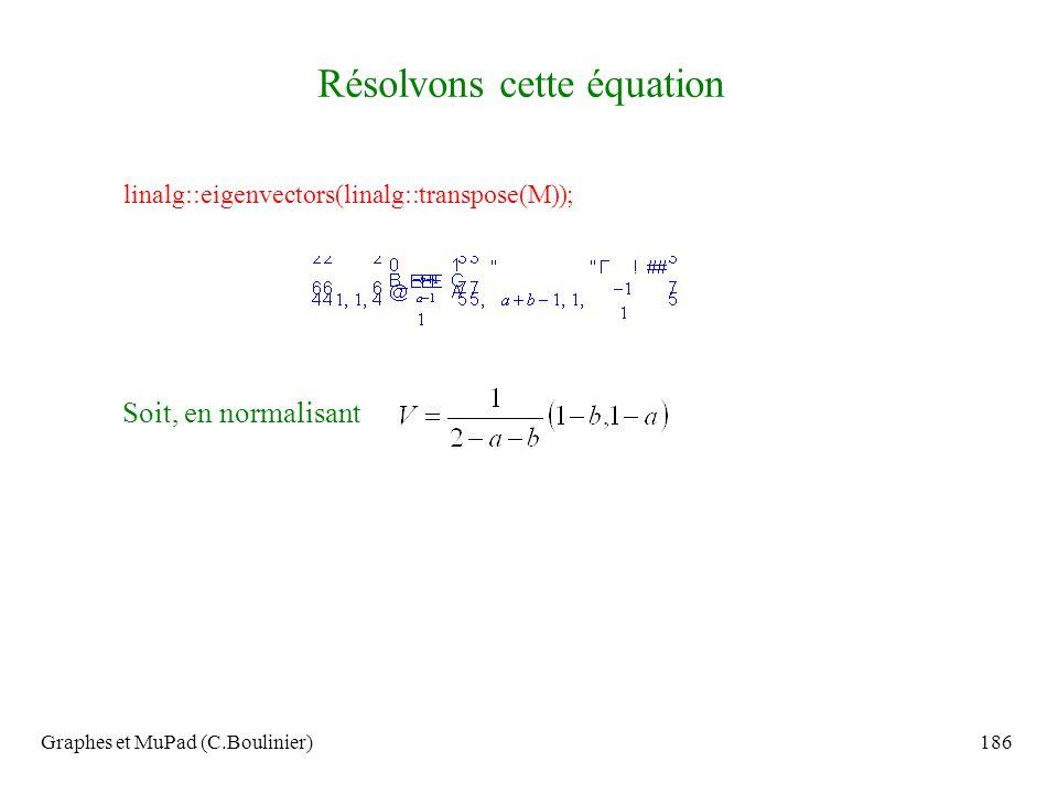 Résolvons cette équation