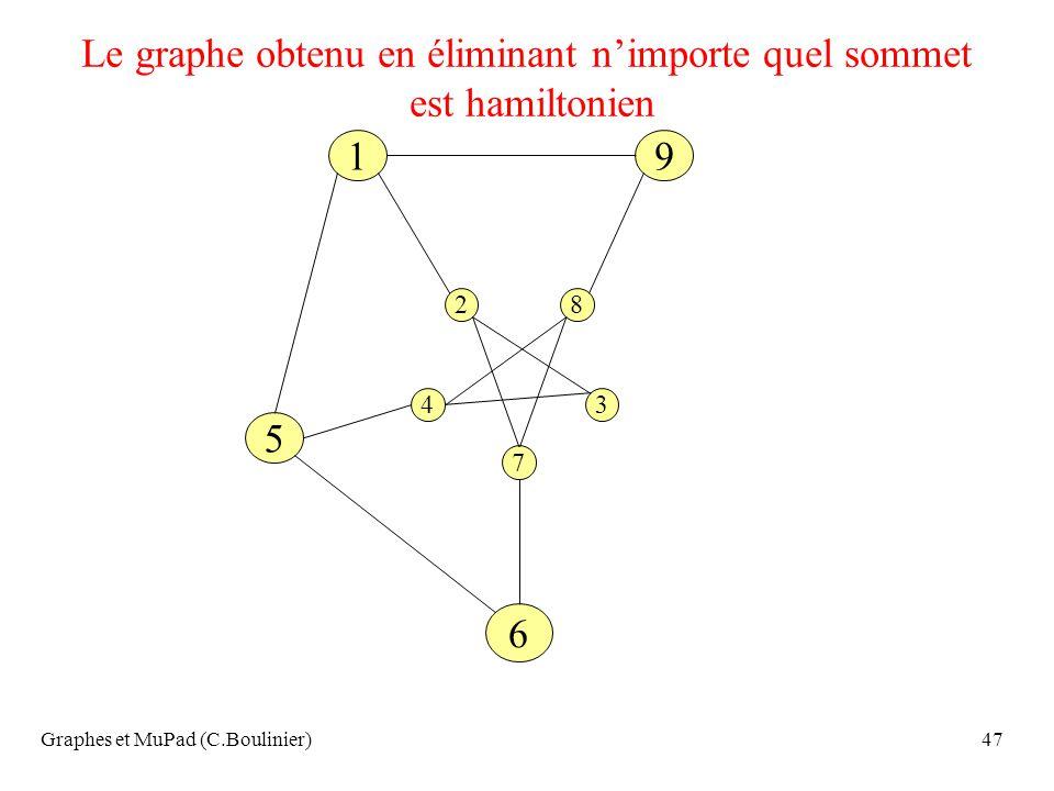 Le graphe obtenu en éliminant n'importe quel sommet est hamiltonien
