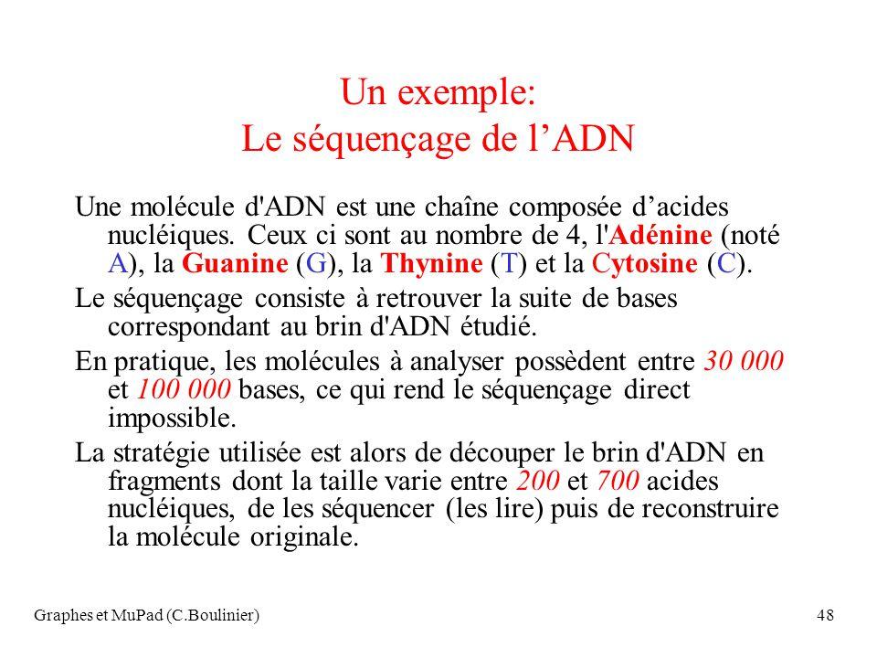 Un exemple: Le séquençage de l'ADN