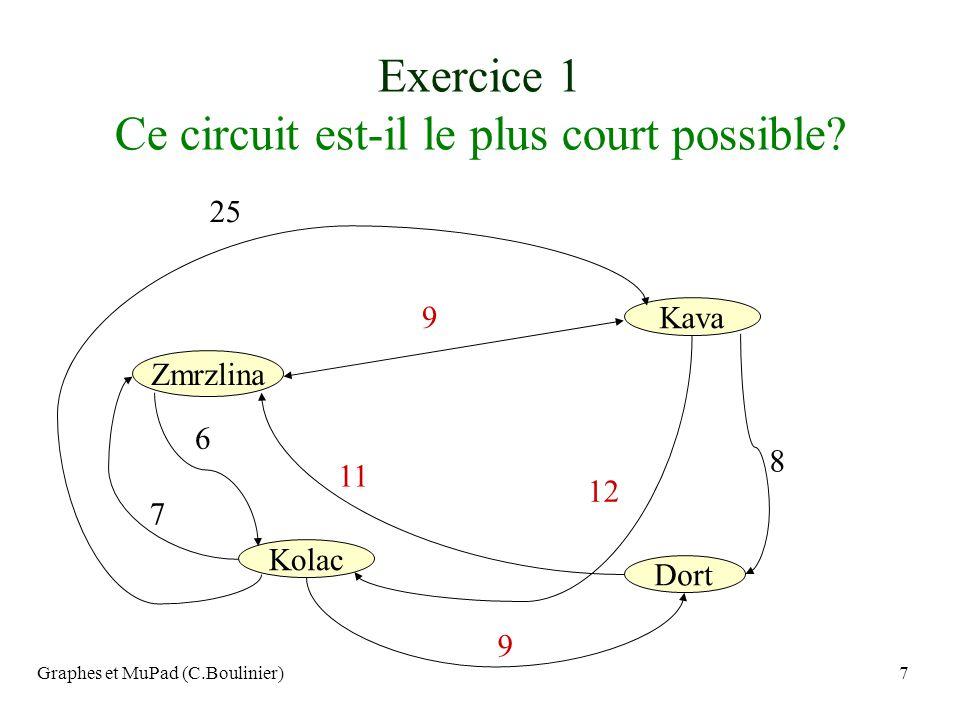 Exercice 1 Ce circuit est-il le plus court possible