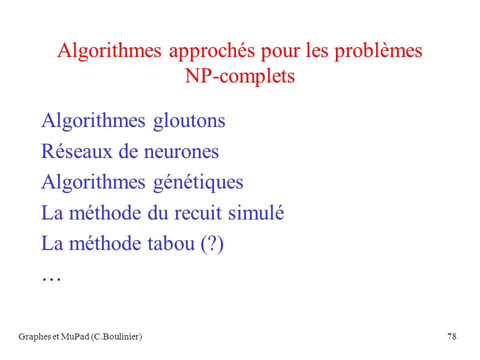 Algorithmes approchés pour les problèmes NP-complets