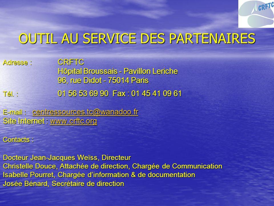 OUTIL AU SERVICE DES PARTENAIRES
