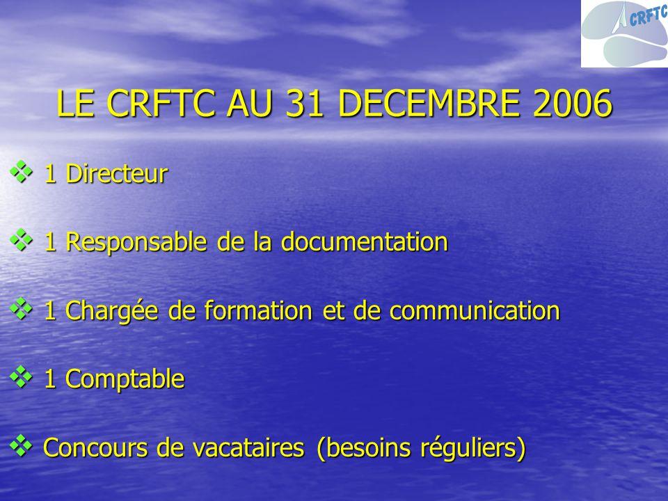 LE CRFTC AU 31 DECEMBRE 2006 1 Directeur