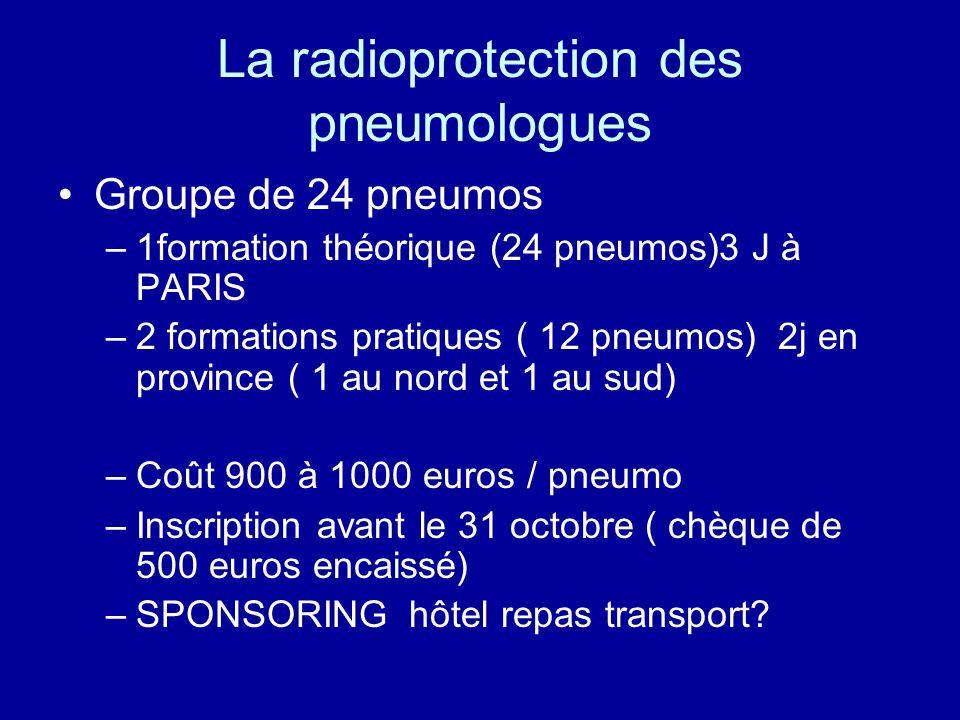 La radioprotection des pneumologues