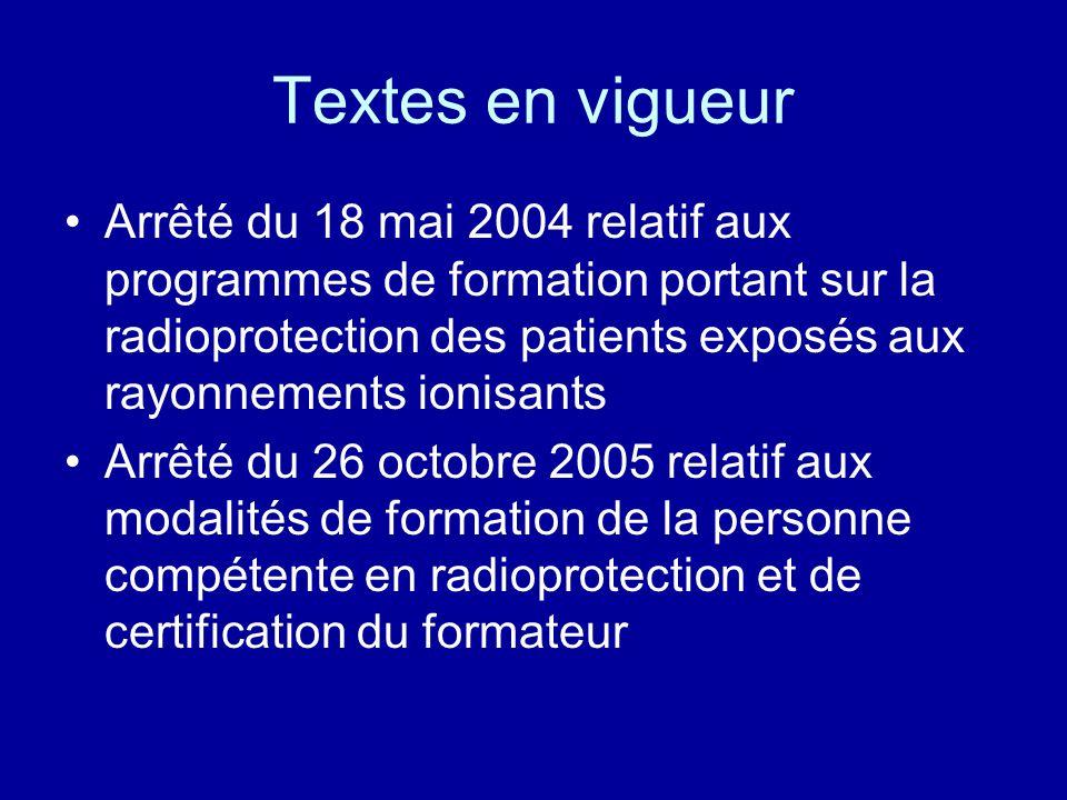 Textes en vigueur