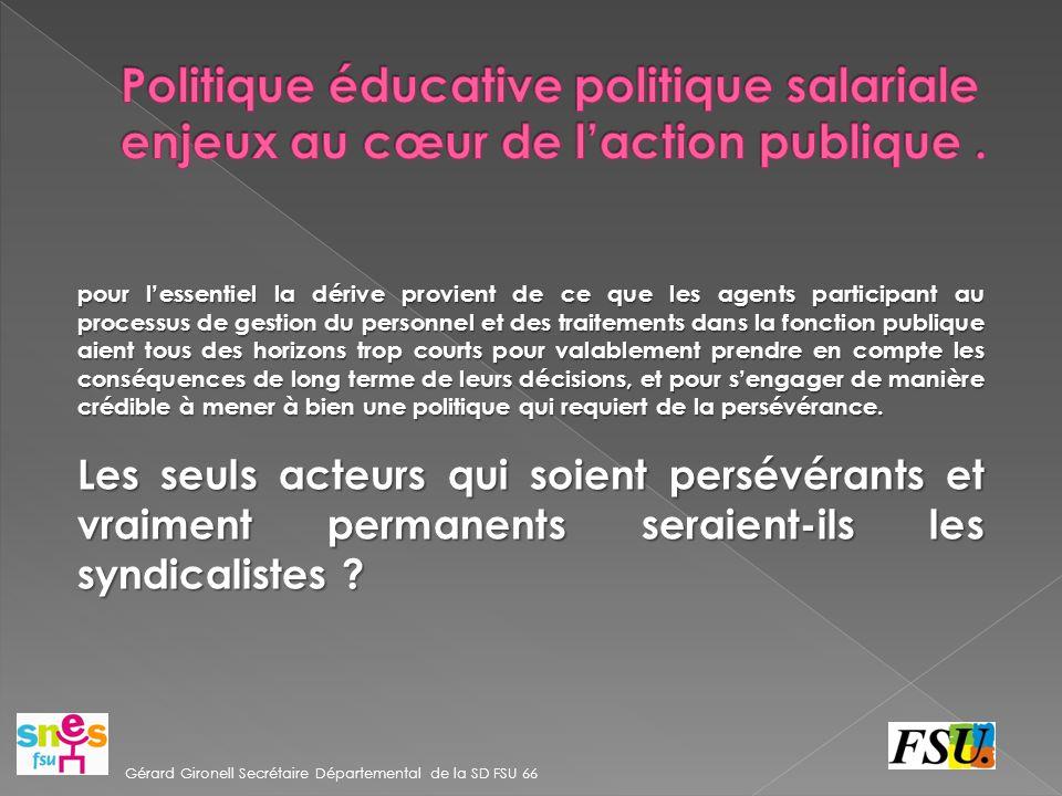 Politique éducative politique salariale enjeux au cœur de l'action publique .