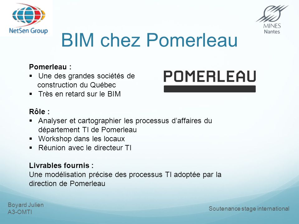 BIM chez Pomerleau Pomerleau : Une des grandes sociétés de