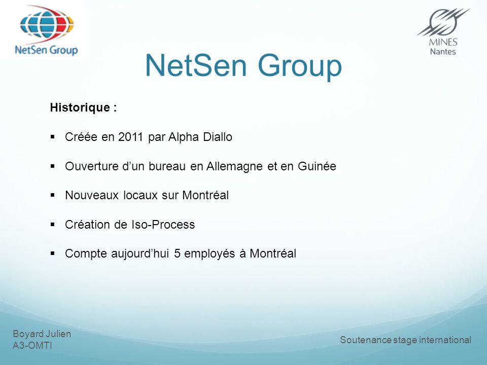 NetSen Group Historique : Créée en 2011 par Alpha Diallo