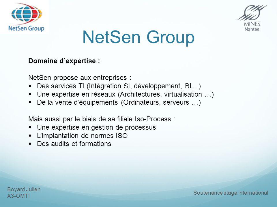 NetSen Group Domaine d'expertise : NetSen propose aux entreprises :