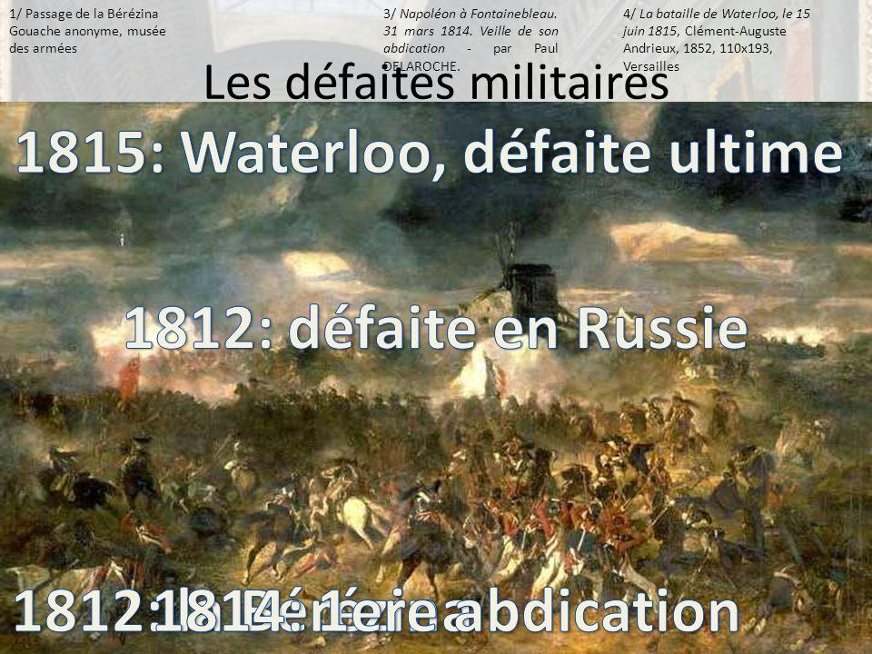 Les défaites militaires