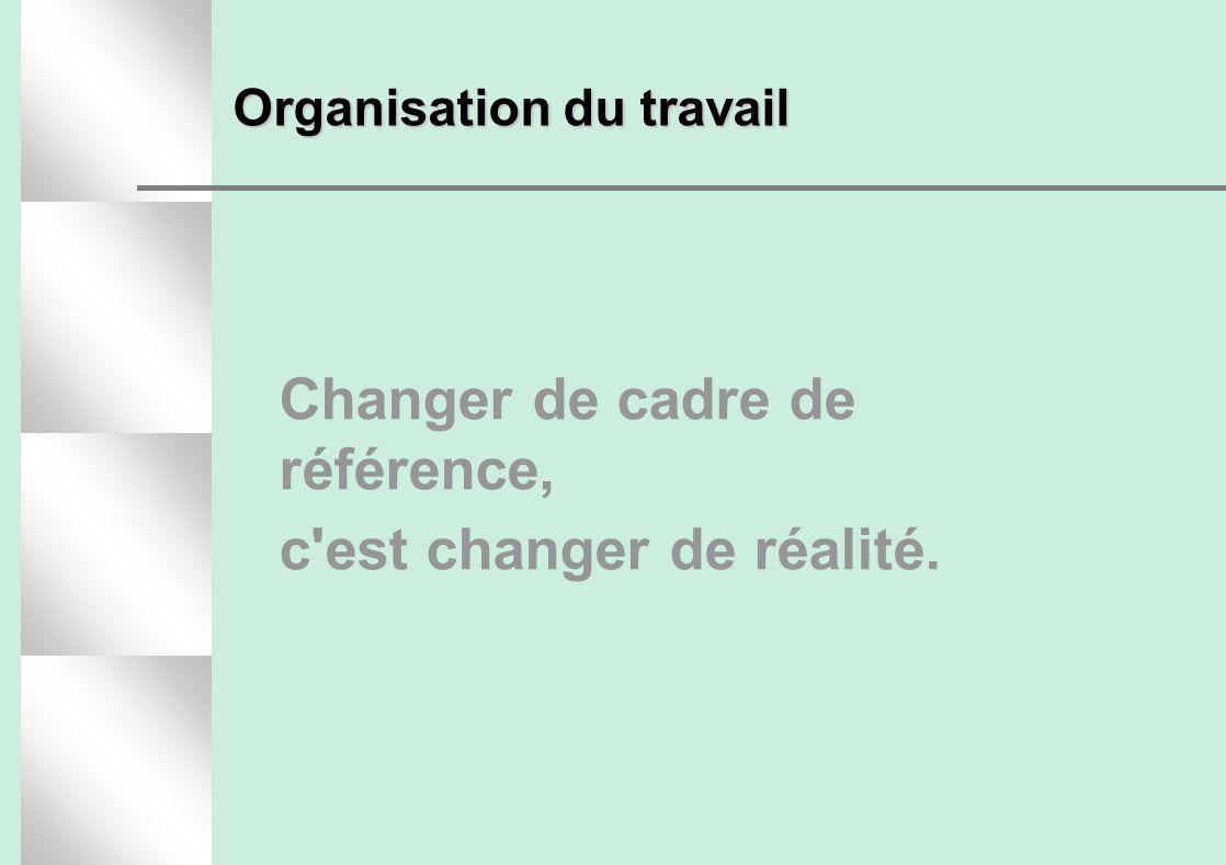 Changer de cadre de référence, c est changer de réalité.