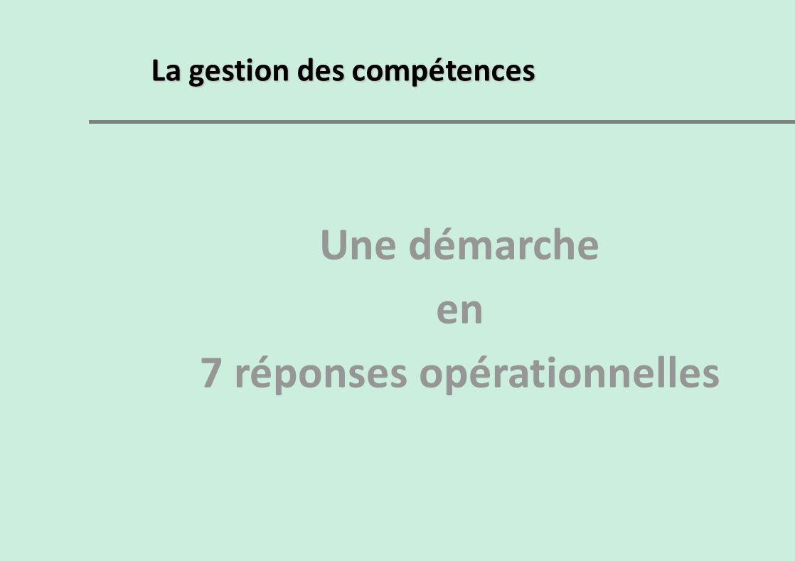 7 réponses opérationnelles