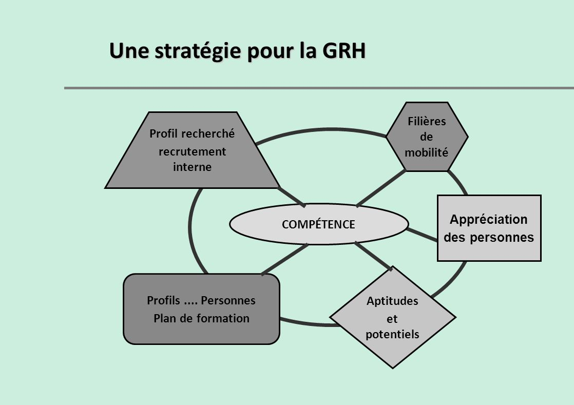 Une stratégie pour la GRH