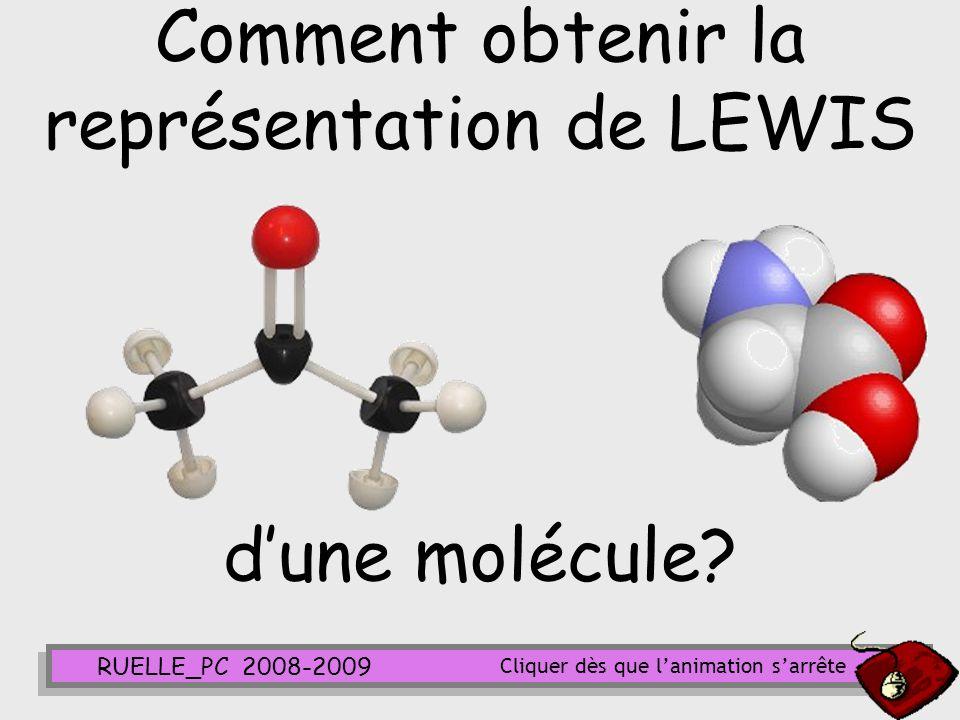 Comment obtenir la représentation de LEWIS d'une molécule
