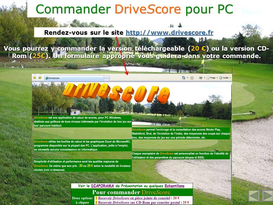 Commander DriveScore pour PC