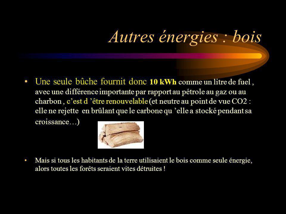 Autres énergies : bois