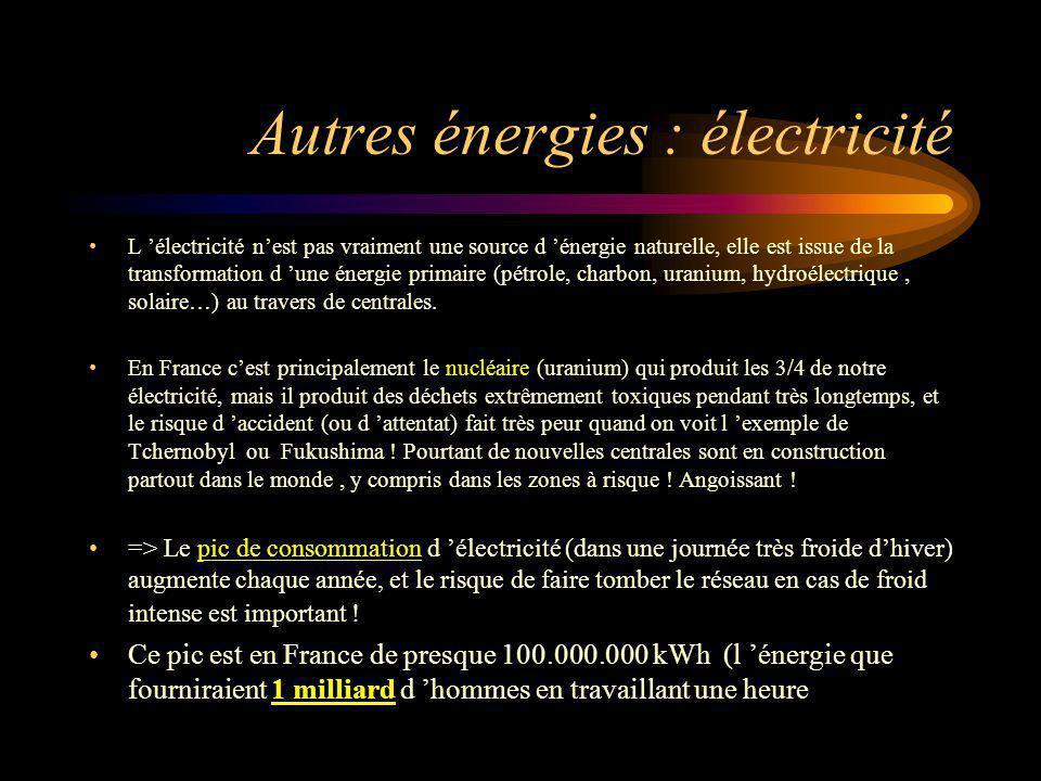 Autres énergies : électricité